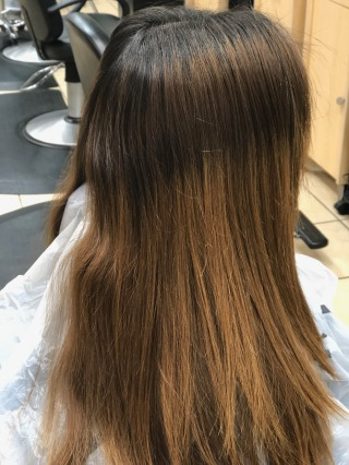 GROWN OUT HAIR WITH Orange brassy tones