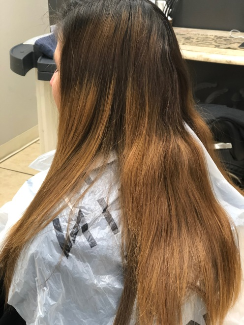 Brassy in hair