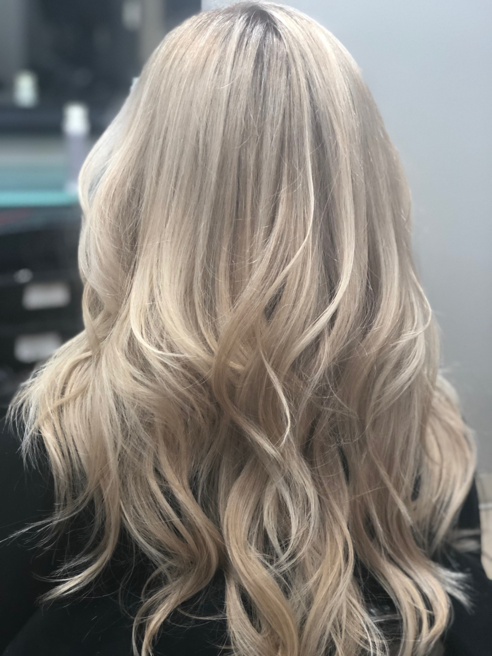 Long hair balayage